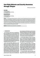 prikaz prve stranice dokumenta User Risky Behavior and Security Awareness through Lifespan